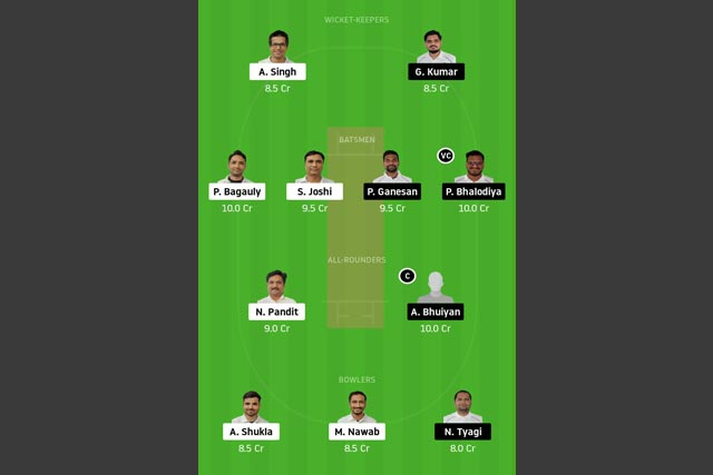 UCC vs PRS Dream11 Team - Experts Prime Team
