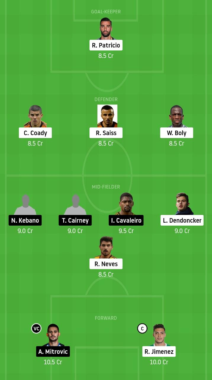 WOL vs FUL Dream11 Team - Experts Prime Team
