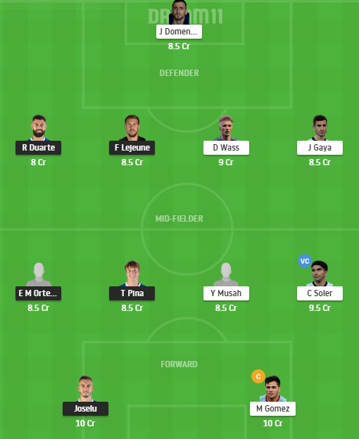 ALA vs VAL Dream11 Team - Experts Prime Team