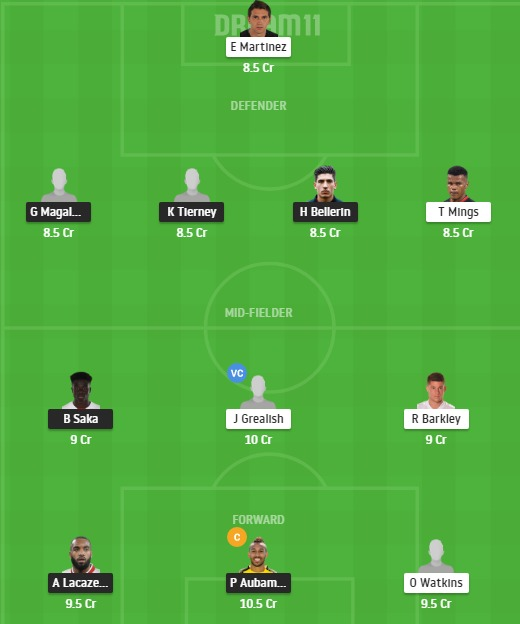 ARS vs AVL Dream11 Team - Experts Prime Team