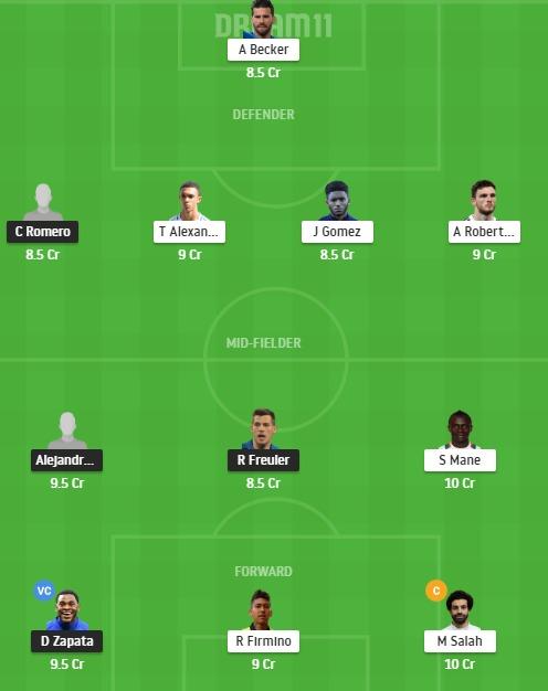 ATN vs LIV Dream11 Team - Experts Prime Team
