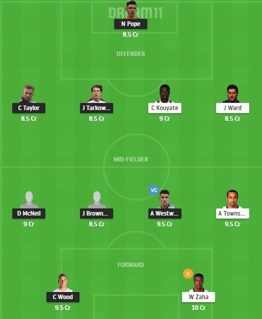 BUR vs CRY Dream11 Team - Experts Prime Team