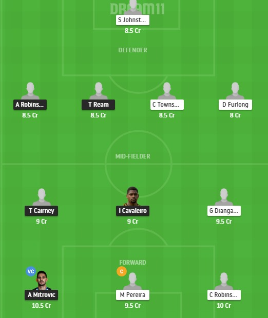 FUL vs WBA Dream11 Team - Experts Prime Team