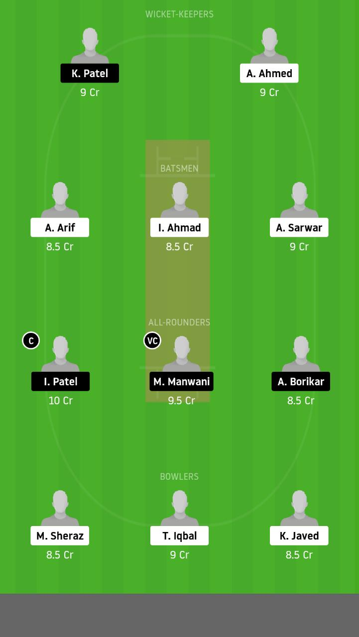 FZL vs RSCC Dream11 Team