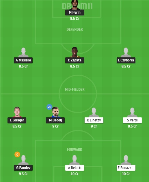 GEN vs TOR Dream11 Team - Experts Prime Team