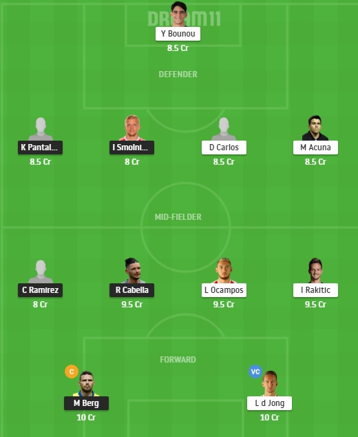 KRS vs SEV Dream11 Team - Experts Prime Team