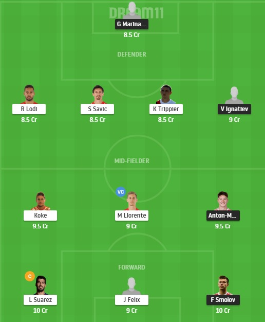 LOK vs ATL Dream11 Team - Experts Prime Team