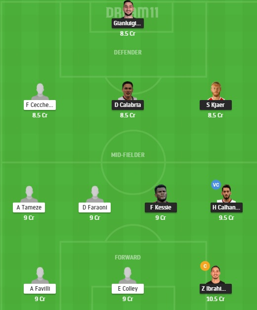 MIL vs VER Dream11 Team - Experts Prime Team
