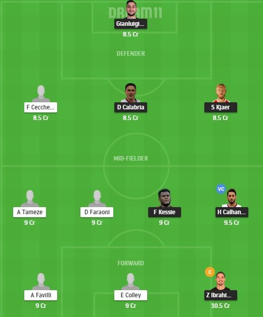 MIL vs VER Dream11 Team - Experts Prime Team