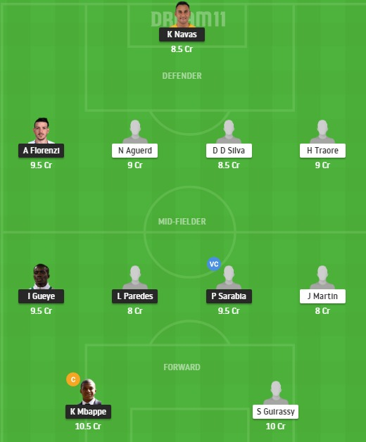 PSG vs REN Dream11 Team - Experts Prime Team