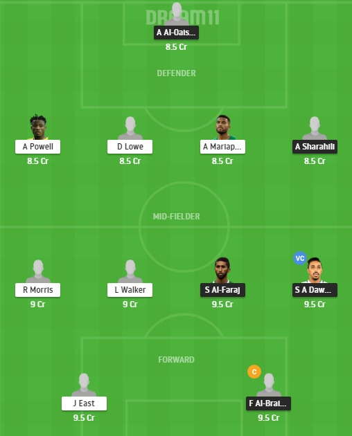 SAU vs JMC Dream11 Team - Experts Prime Team