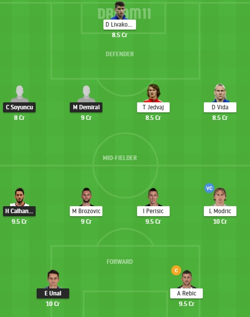 TUR vs CRO Dream11 Team - Experts Prime Team