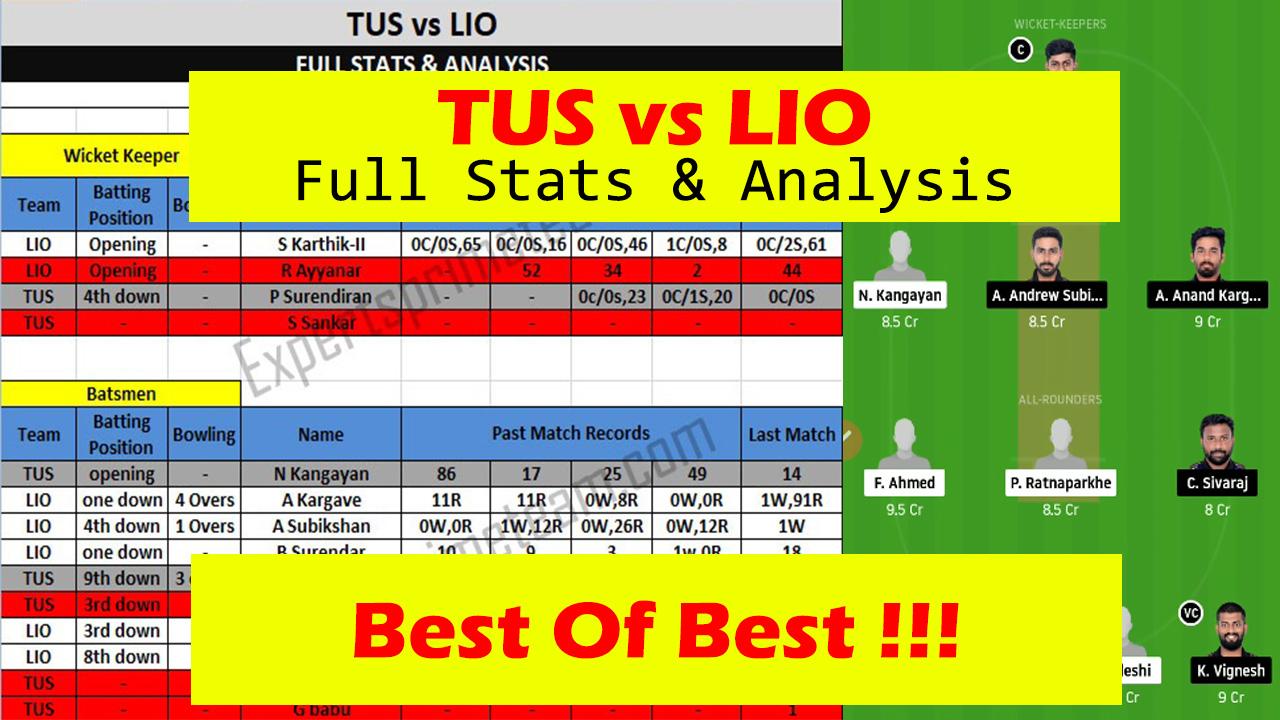 TUS vs LIO Dream11 players stats & Analysis TUS vs LIO Dream11 Team TUS vs LIO Experts Prime Team