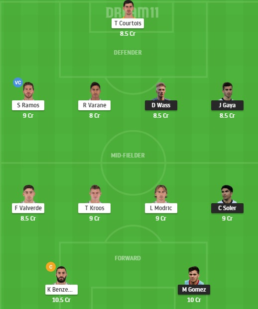 VAL vs RM Dream11 Team - Experts Prime Team