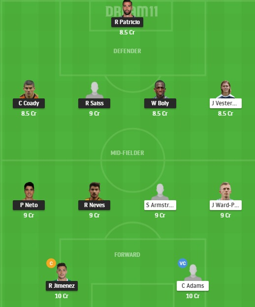 WOL vs SOU Dream11 Team - Experts Prime Team