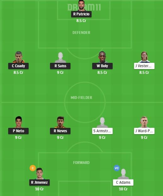 WOL vs SOU Dream11 Team - Experts Prime Team