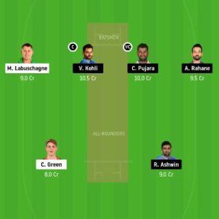 AUS vs IND 1st Test Match dream11 fantasy cricket prediction