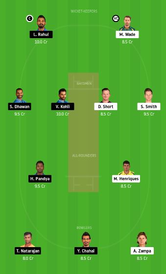 AUS vs IND 3rd T20 Dream11 Team Prediction for today match