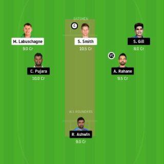 AUS vs IND dream11 team prediction
