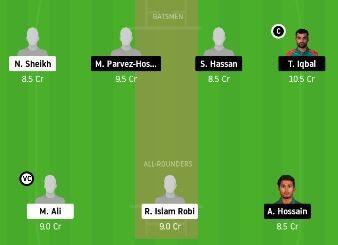 BDH vs FBA dream11 prediction 21st Match