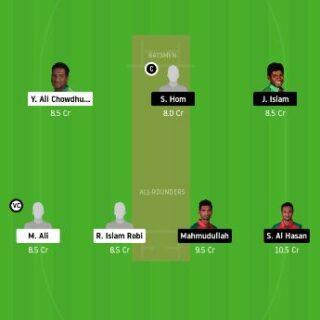 BDH vs GKH Dream11 Team Prediction - 17 match today
