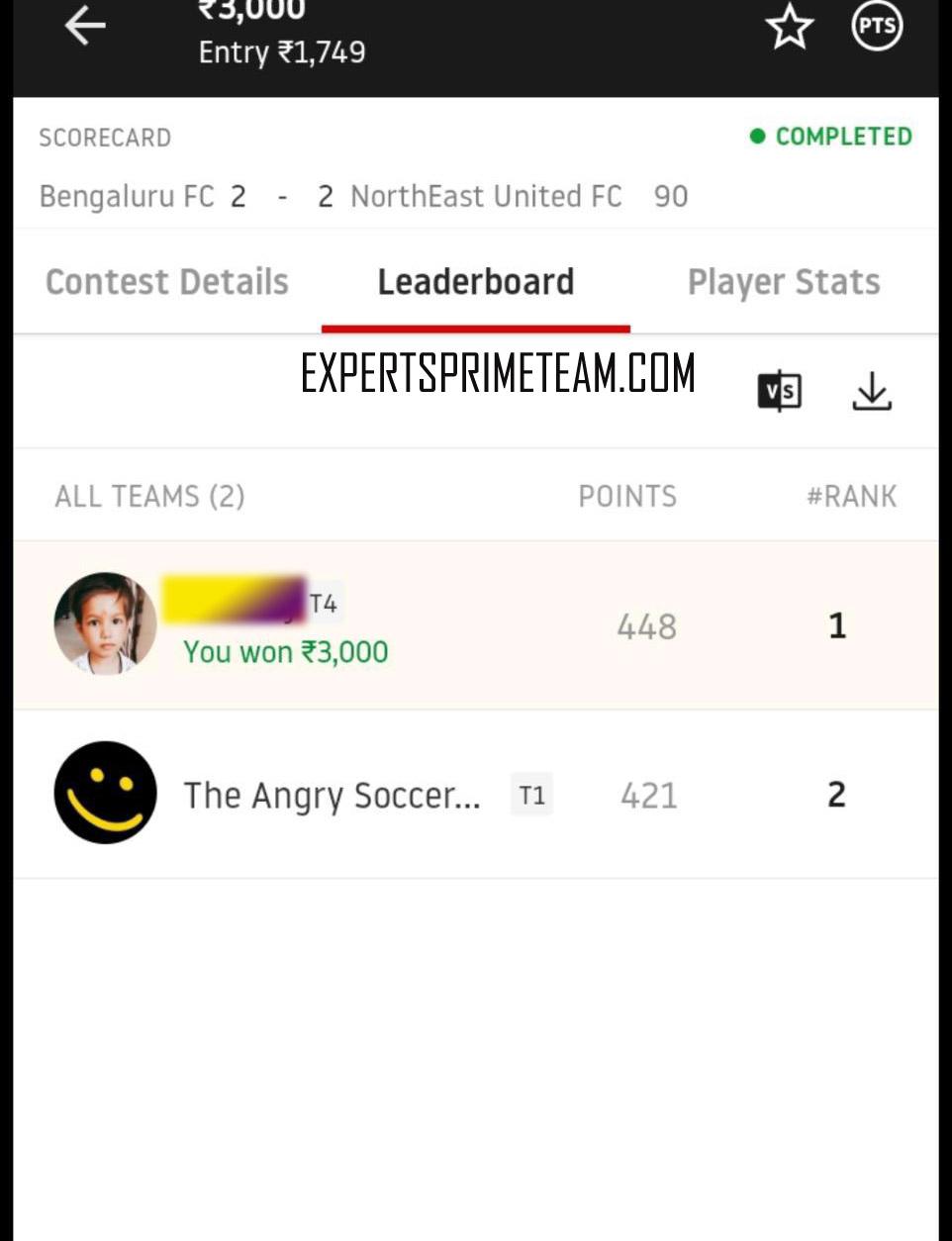 BEN-VS-NOR-Dream11-Results-