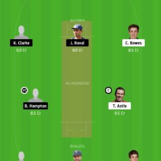 CTB vs NK Dream11 Team Prediction - 11th match