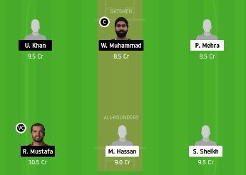 DUB vs FUJ dream11 prediction 26th match emirates T20