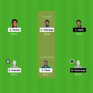 DV vs JS dream11 fantasy cricket prediction - Lanka Premier League 22nd Match