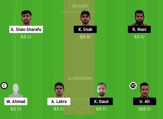 ECB vs SHA dream11 team prediction