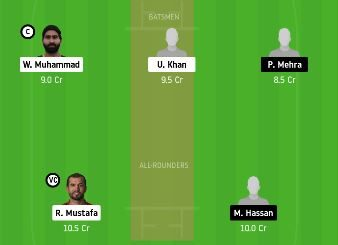 FUJ vs DUB dream11 team prediction