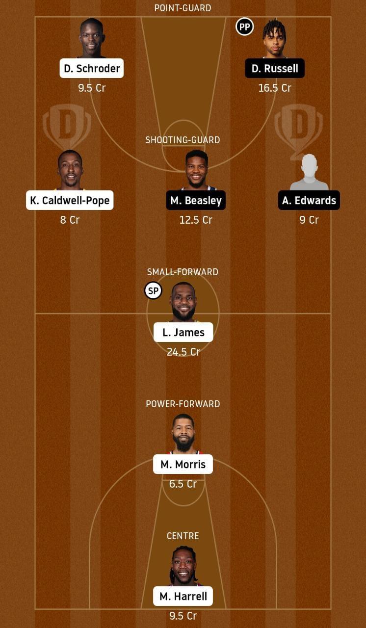 LAL vs MIN dream11 team prediction