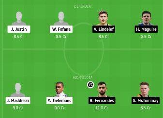 LEI vs MUN dream11 team prediction