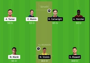SCO vs STA Dream11 Team Prediction 9th Match