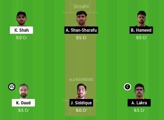 SHA vs ECB dream11 prediction - 23 match
