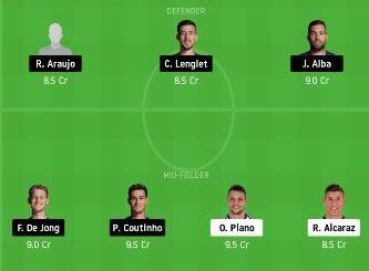 VLD vs BAR Dream11 Team fantasy Prediction