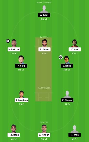 KAR vs UP dream11 team fantasy cricket prediction