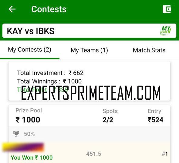 KAY-VS-IBKS-Dream11-Results