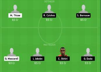 SCH vs KOL Dream11 Team fantasy Prediction