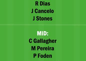 WBA vs MCI Dream11 Team fantasy Prediction Premier League