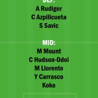 ATL vs CHE Dream11 Team fantasy Prediction Premier League