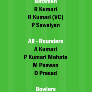 BOK-W vs DUM-W Dream11 Team fantasy Prediction Jharkhand Womens T20