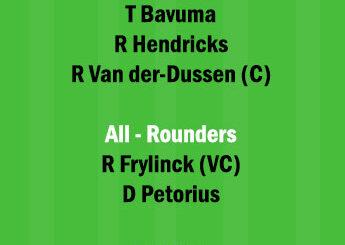 DOL vs HL Dream11 Team fantasy Prediction South African T20 Challenge
