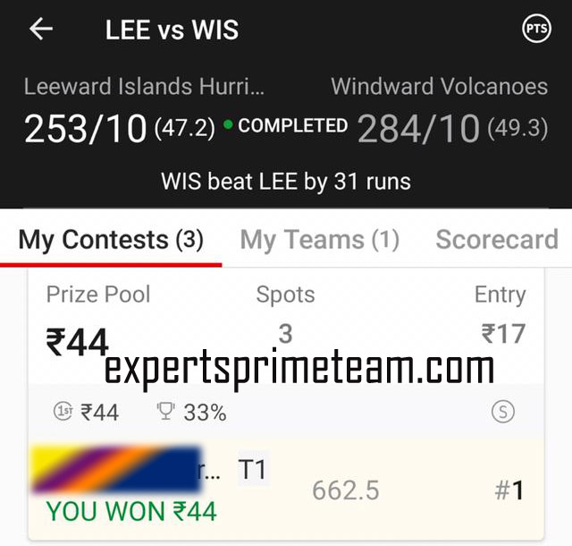 LEE-VS-WIS-Dream11-Results-