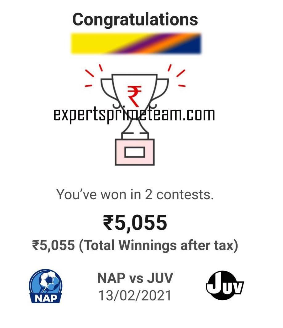 NAP-VS-JUV-Dream11-Results-