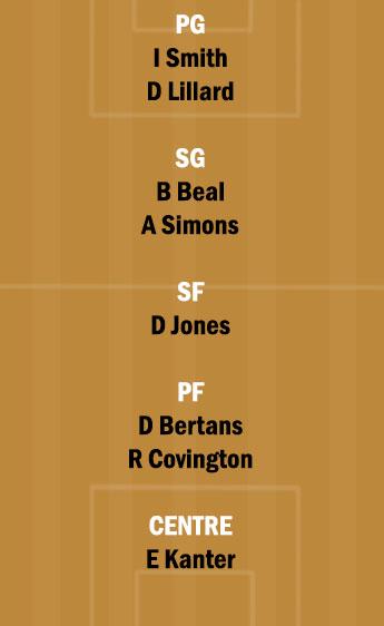 POR vs WAS Dream11 Team fantasy Prediction NBA