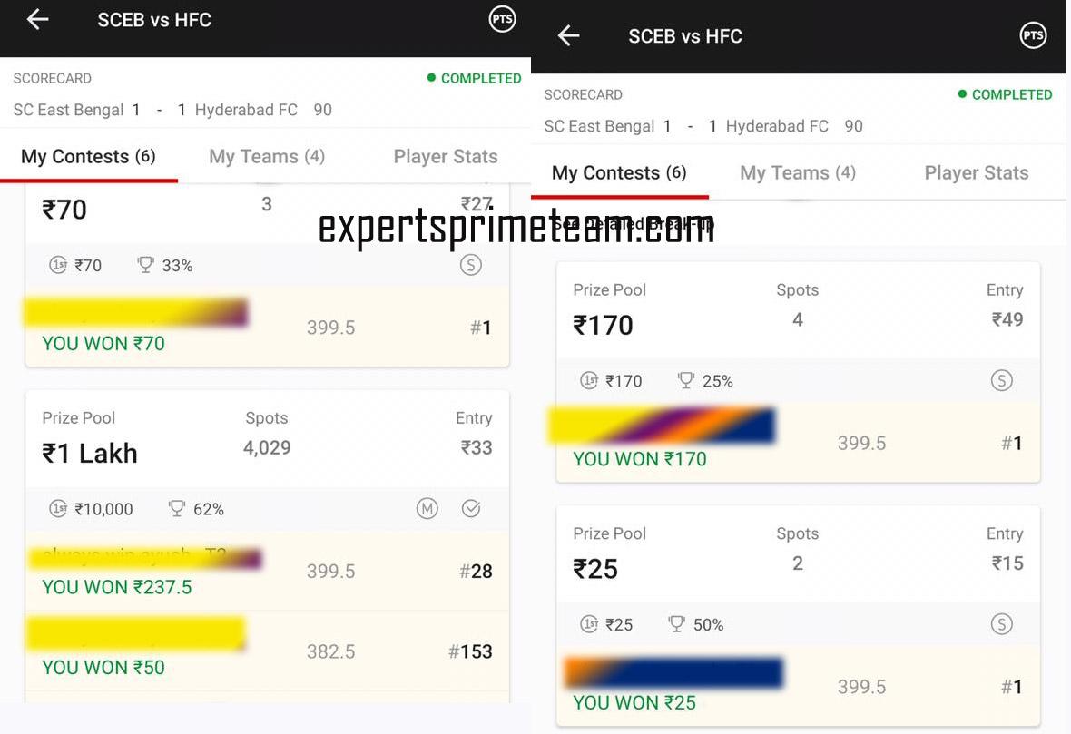 SCEB-VS-HFC-Dream11-Results