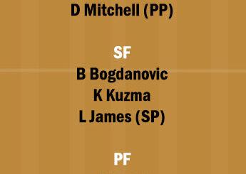 UTA vs LAL Dream11 Team fantasy Prediction NBA