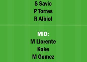 VIL vs ATL Dream11 Team fantasy Prediction Laliga Santander