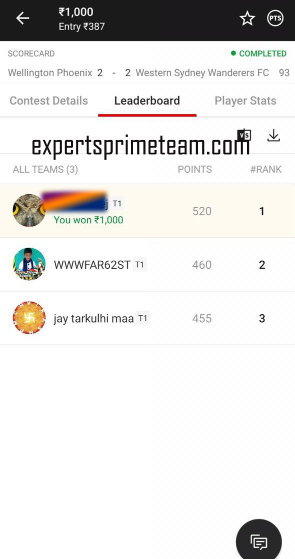 WEL-VS-WEST-Dream11-Results